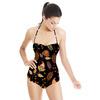 Dark Paisley Pattern. (Swimsuit)
