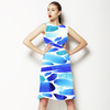 Blue Brush Strokes (Dress)