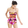 Abstract Bright Floral Texture (Swimsuit)