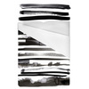 Watercolor Abstract Zebra Stripes Animal Skin (Bed)