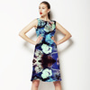 Painted Abstract Roses White Purple Black (Dress)
