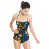 Seventies Retro Flowers. (Swimsuit)