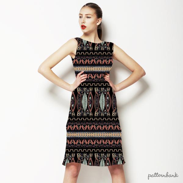 Linear Batik Tribal Pattern 1