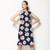 Daisy Floral Ikat (Dress)
