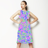 Resort Skins Pink Blue Green Vector (Dress)