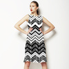 Black and White Zig Zags (Dress)