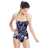 Paisley Pattern. Seamless Indian Pattern in Two Colors (Swimsuit)