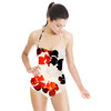 Black N Red Watercolor Flowers (Swimsuit)