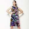 Geometric Digital Floral Abstract (Dress)