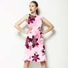 Berry Pinks Lily Blossom Floral (Dress)