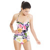 Aztec Digital Floral With Distressed Stripes (Swimsuit)