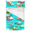 Tropical Flamingo and Lily Pad Water Print (Bed)