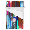 Abstract Painting Mirrored Colorful Marker (Bed)
