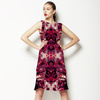 Red Magenta Love Abstract Foliage Splatter (Dress)