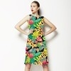 Bright Tropical Leafy Floral (Dress)