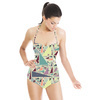 Crazy Colorful Pastel Triangle Pattern (Swimsuit)