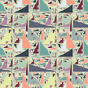 Crazy Colorful Pastel Triangle Pattern (Original)
