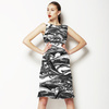 Black and White Earth Texture (Dress)