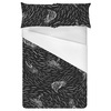 Conversational Brushstoke Tropical Surfers (Bed)
