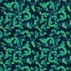 Blue Green Abstract Painterly Naive Floral (Original)