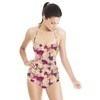 Mixed Media Allover Pink Floral (Swimsuit)