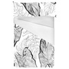 Sketched Palm Lives Exotic Foliage and Tropical Vegetation Monochrome (Bed)