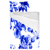 Indigo Blue Ink Irises on White (Bed)