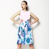 Watercolor Indigo Irises Border Placement (Dress)