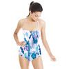Watercolor Indigo Irises Border Placement (Swimsuit)
