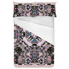 Dust Pink Stained Glass Square Graphic (Bed)