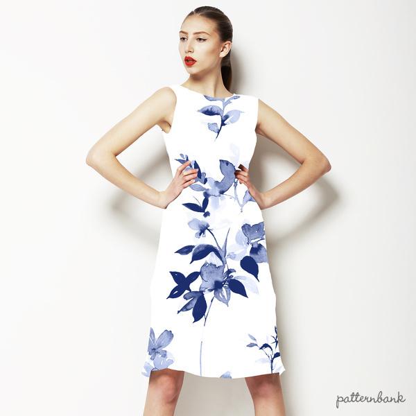 Pale Blue Watercolour Floral