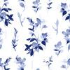 Pale Blue Watercolour Floral (Original)