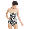 Ink Leopard Skin Camo Monochrome (Swimsuit)