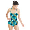 Ethnic Watercolour Squares and Crosses (Swimsuit)