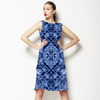 Blue Cao Floral Mirrored Pattern (Dress)