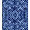 Blue Cao Floral Mirrored Pattern (Original)