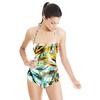Tropical Palm Leaf Stripe (Swimsuit)