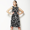 Black and White Tropical Ikat (Dress)