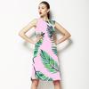 Watercoloiur Palms on Pink (Dress)