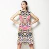Abstract Pink Camo Animal Print (Dress)