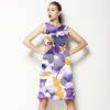 Purple and Yellow Watercolour Floral (Dress)
