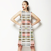 Collage Cut Out Lines White (Dress)