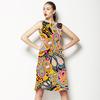 Multicoloured Ethnic Digital Paisley (Dress)