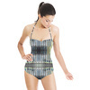 Paint Brush Blurry Yellow Blue Lines (Swimsuit)