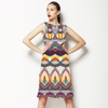 Colourful Playful Abstract Native Pattern (Dress)