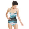 Mountains Sky Mist Nature Pattern (Swimsuit)