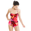 AW1617 Midnight Garden Red Floral Vector (Swimsuit)