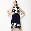 Cherry Blossoms in Navy (Dress)