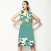 Cherry Blossoms in Aqua (Dress)
