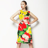 Red and Yellow Hand Painted Poppy (Dress)